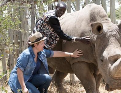 Naturreservat med noshörningar i östra Afrika