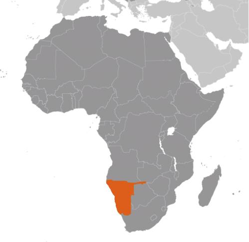 Namibia karta