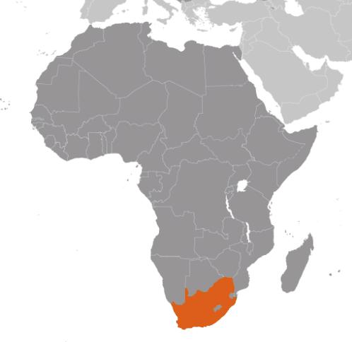 Sydafrika karta