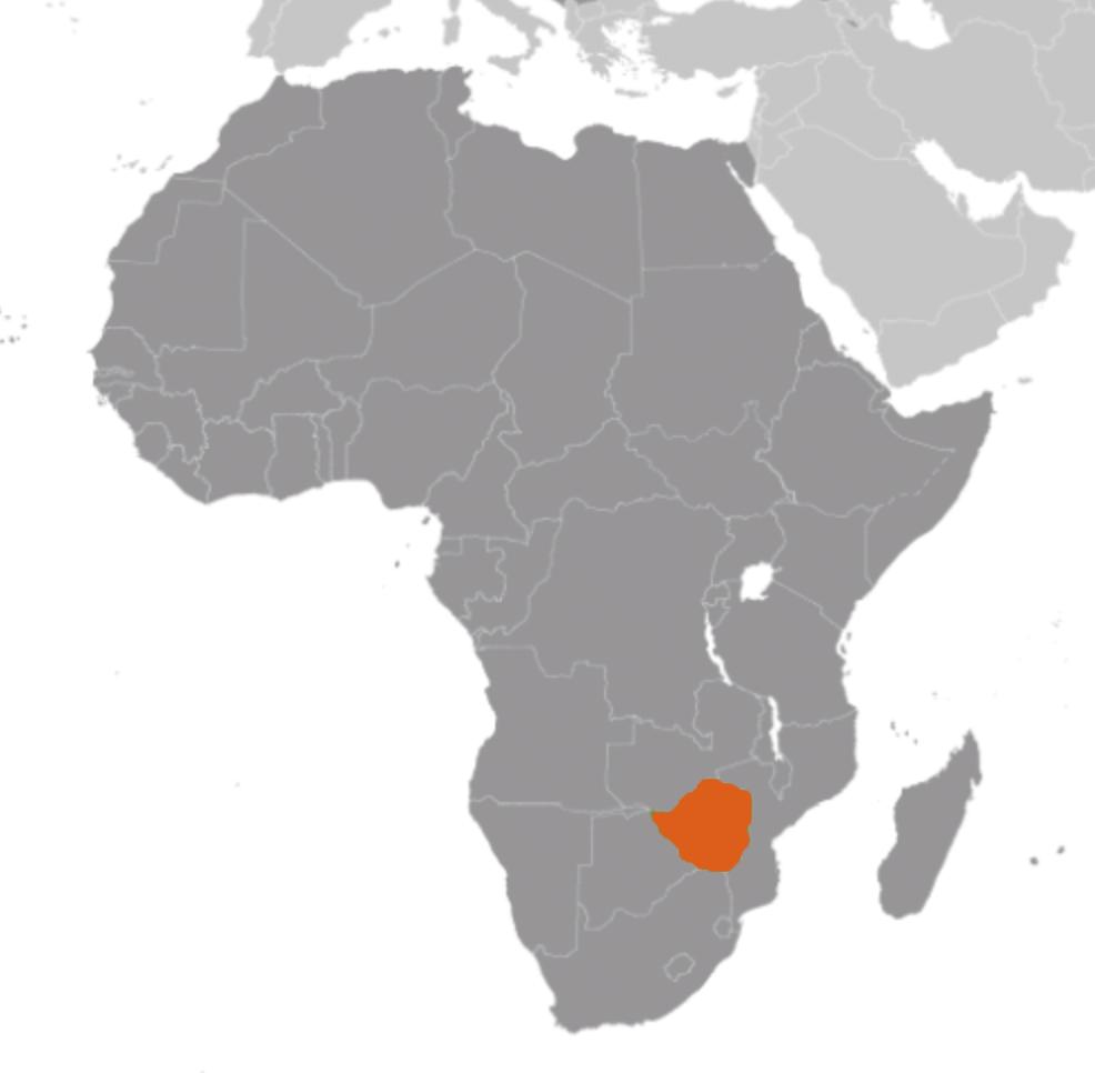Zimbabwe karta